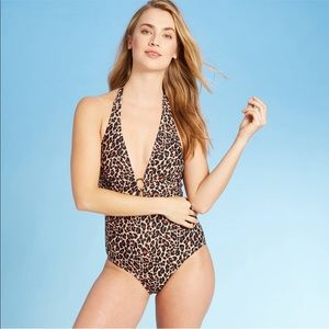 KONA SOL • Leopard Spot Gold One Piece Swimsuit